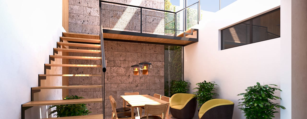 Comedores de estilo  por Laboratorio Mexicano de Arquitectura