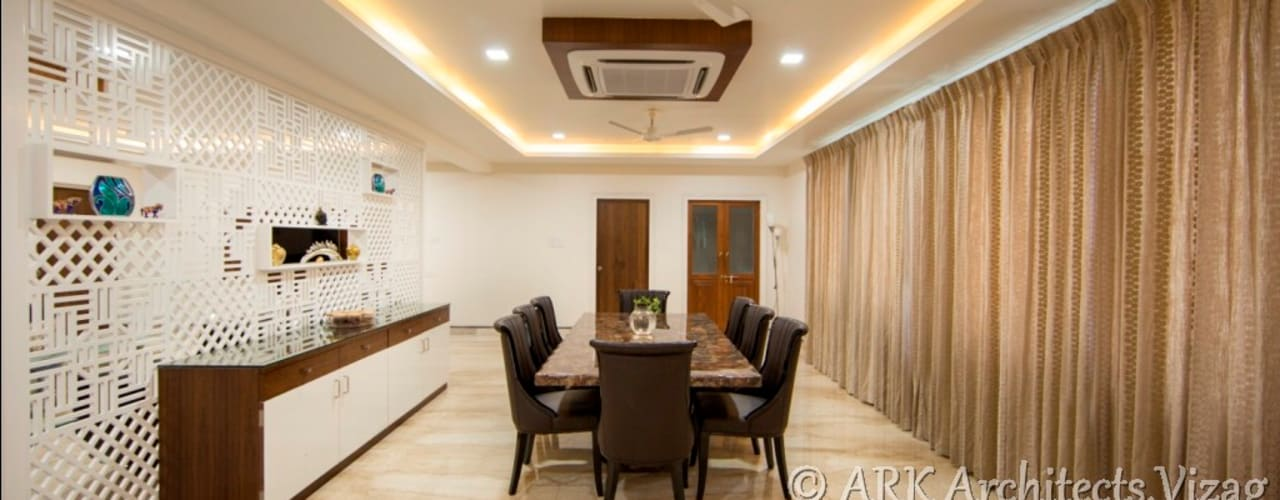 Bunglow at VIP Road Modern dining room by ARK Architects & Interior Designers Modern