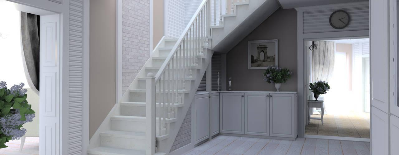 斯堪的納維亞風格的走廊,走廊和樓梯 根據 Slava Filipenka architect 北歐風