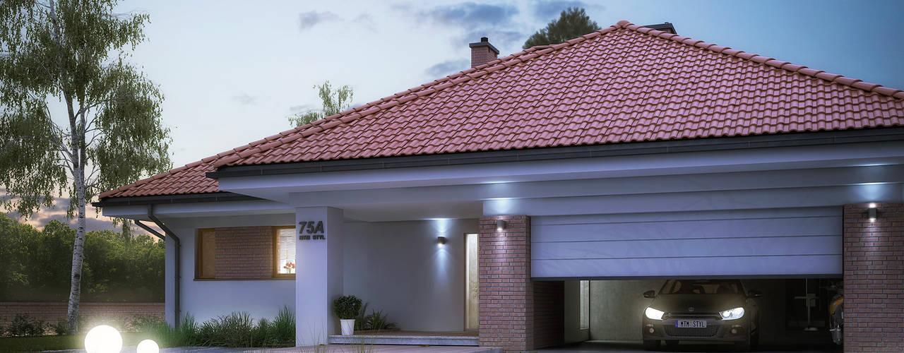 Дома в стиле модерн от Biuro Projektów MTM Styl - domywstylu.pl Модерн