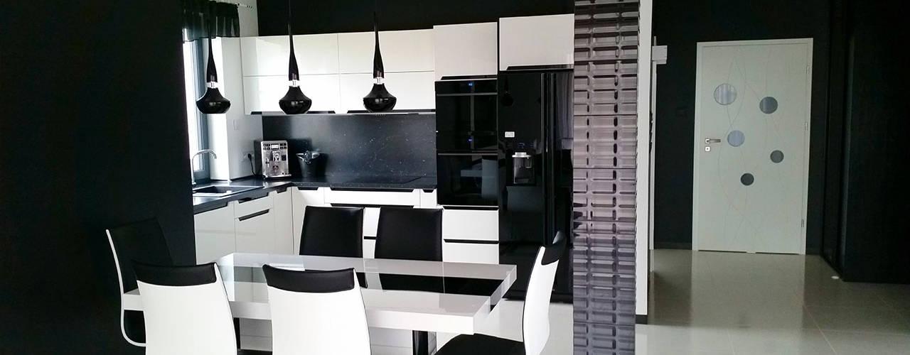 Dining room by Biuro Projektów MTM Styl - domywstylu.pl