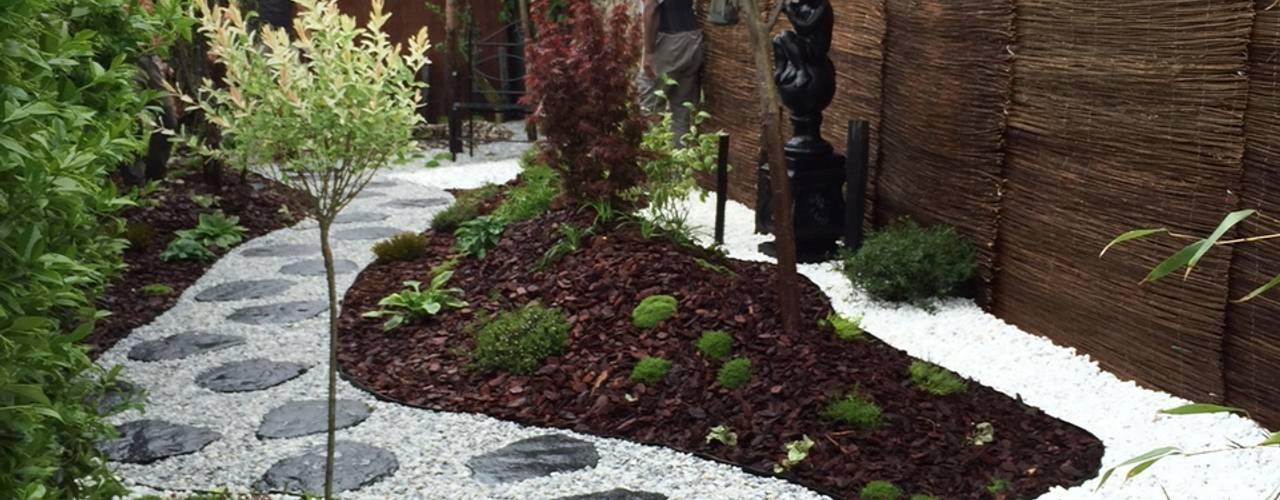 DCPAYSAGE Jardins asiáticos Ferro/Aço Efeito de madeira