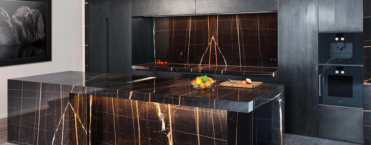 homify Kitchen Marble Black
