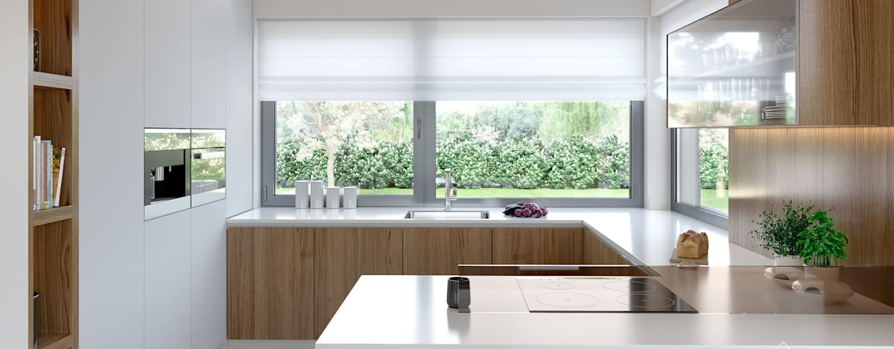 Aranżacja wnętrza domu HomeKONCEPT-36: styl , w kategorii Kuchnia zaprojektowany przez HomeKONCEPT | Projekty Domów Nowoczesnych