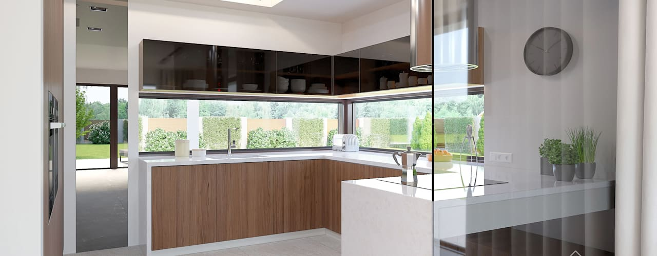 Aranżacja wnętrza domu HomeKONCEPT-37: styl , w kategorii Kuchnia zaprojektowany przez HomeKONCEPT | Projekty Domów Nowoczesnych