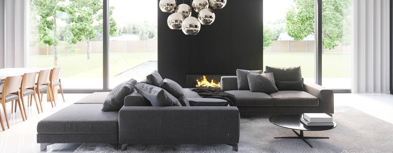 Living room by HomeKONCEPT | Projekty Domów Nowoczesnych,