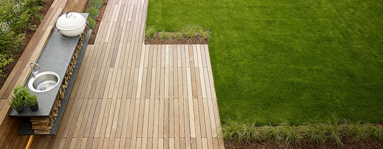 Jardines de estilo  por Burnazzi  Feltrin  Architects