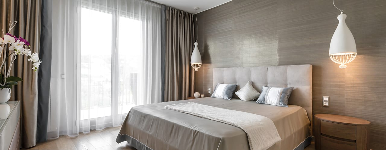 Italian modern - Interior design for a residence in the Italian Riviera Modern style bedroom by NG-STUDIO Interior Design Modern