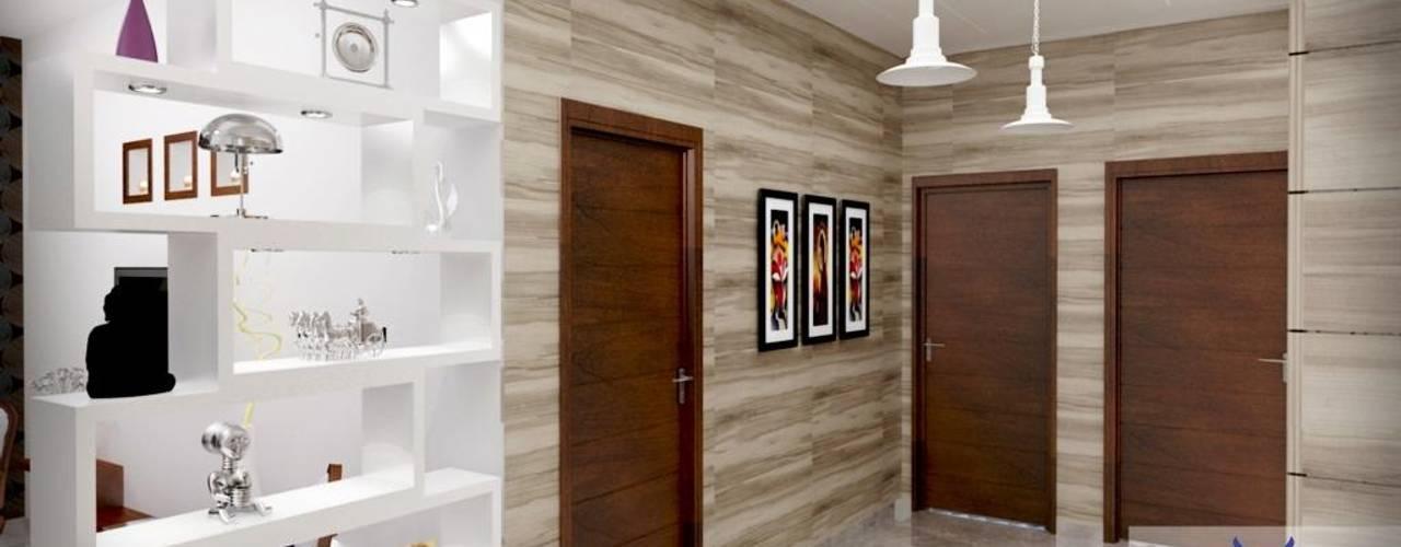 Interior design 現代風玄關、走廊與階梯 根據 Eternity Designers 現代風