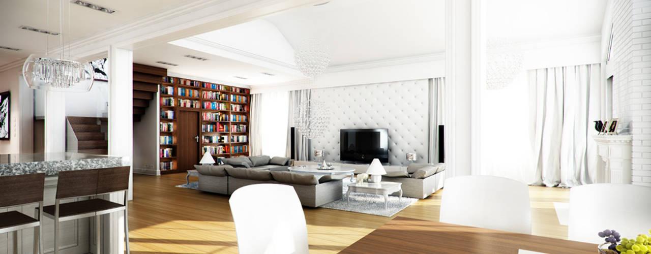Salon de style de style Moderne par MG Projekt Projekty Domów