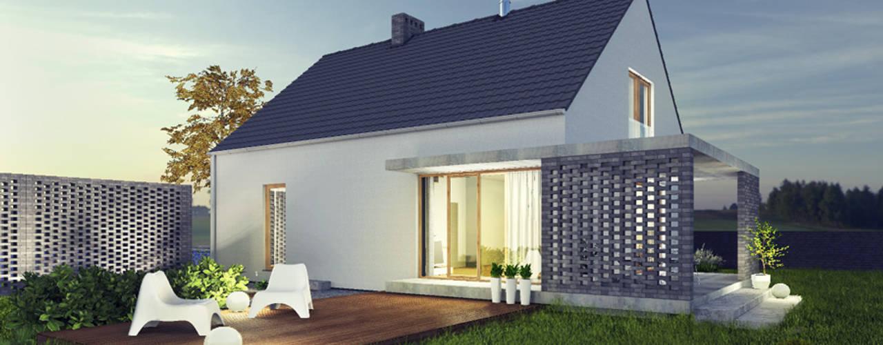 Projekty: styl , w kategorii Domy zaprojektowany przez biuro40