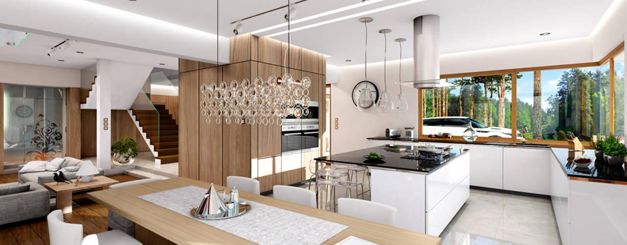 Dom z widokiem MG Projekt Projekty Domów Modern living room