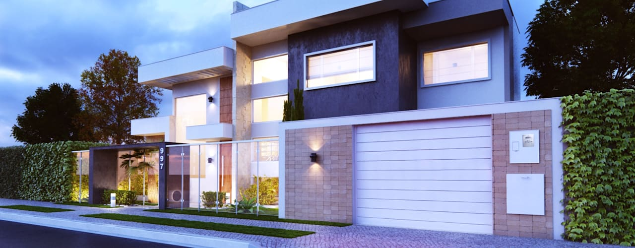 Casas modernas: Ideas, imágenes y decoración de Amauri Berton Arquitetura Moderno