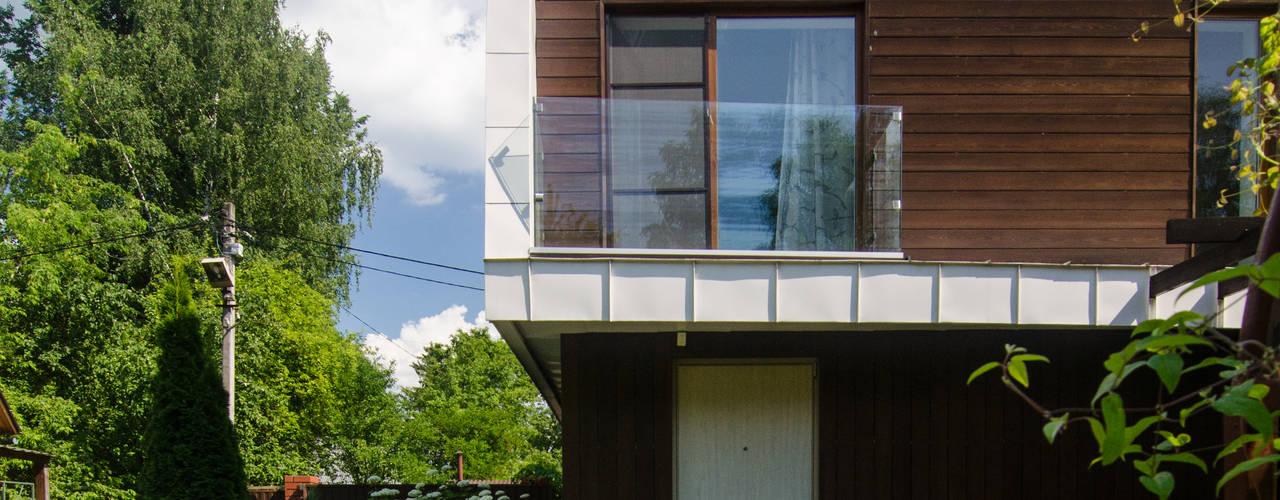 Реконструкция Дачного дома в Пушкино, МО. baboshin.com Minimalist house
