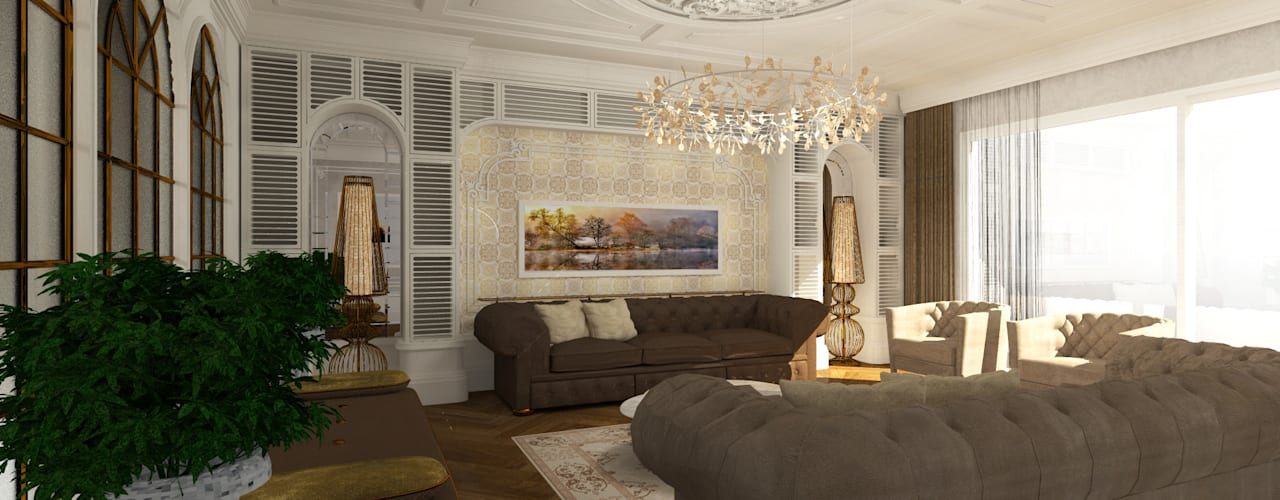Gümüşcü Mimarlık Rustic style dining room Wood White