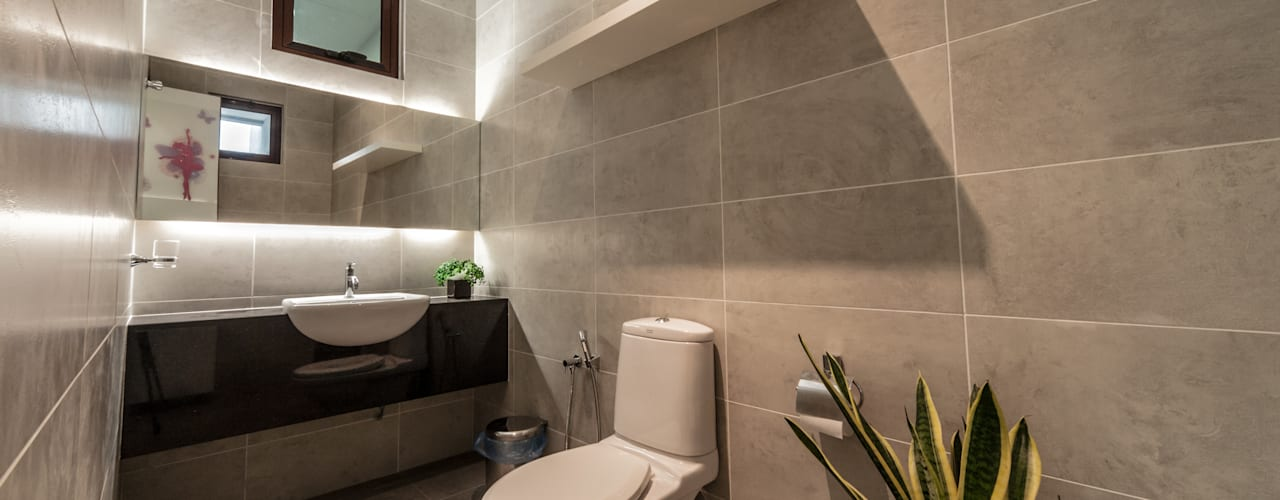 Majestic Contemporary | BUNGALOW Minimalist style bathrooms by Design Spirits Minimalist