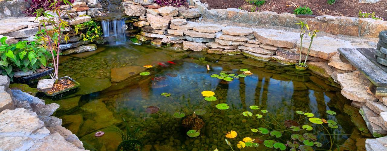 12 Hermosas Lagunas Y Estanques Para Hacer En Tu Jardin - Jardin-con-estanque