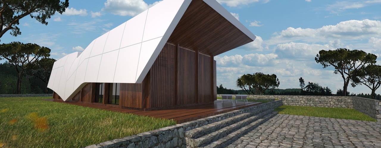 Temporary Wings: Casas  por Office of Feeling Architecture, Lda,