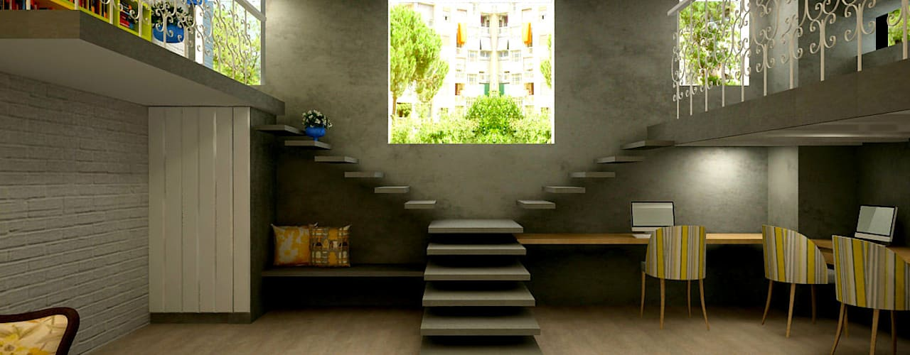 Modern Corridor, Hallway and Staircase by Shreya Bhimani Designs Modern