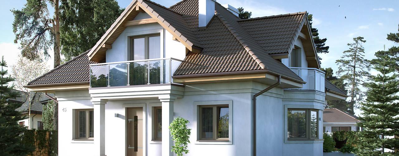 Casas de estilo moderno de Biuro Projektów MTM Styl - domywstylu.pl