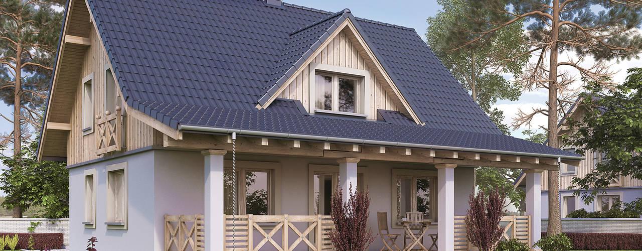 Casa rurale di Biuro Projektów MTM Styl - domywstylu.pl Rurale