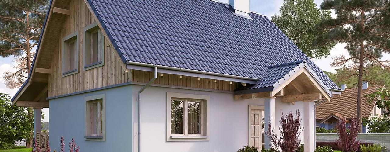 Wizualizacja projektu domu Malinowy: styl wiejskie, w kategorii Domy zaprojektowany przez Biuro Projektów MTM Styl - domywstylu.pl