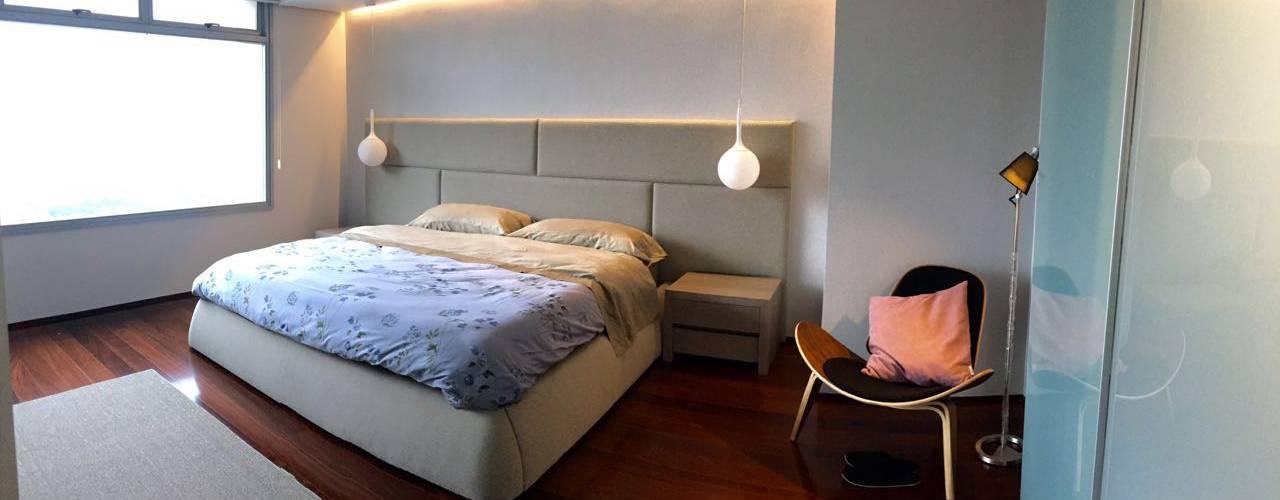 Proyecto Bello Monte: Cuartos de estilo moderno por THE muebles