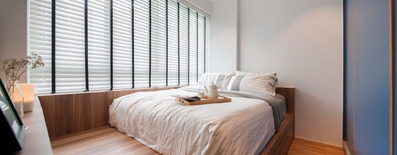 Camera da letto in stile scandinavo di Eightytwo Pte Ltd Scandinavo