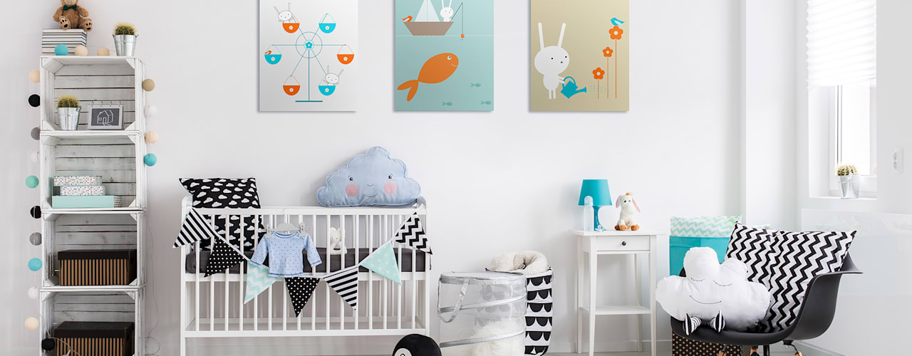 Nursery & kids room Scandinavian style nursery/kids room by Pixers Scandinavian