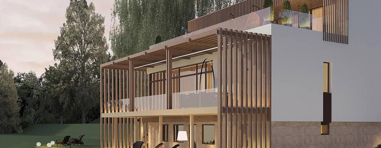 Дом с видом на озеро Дома в стиле минимализм от Dmitriy Khanin Минимализм