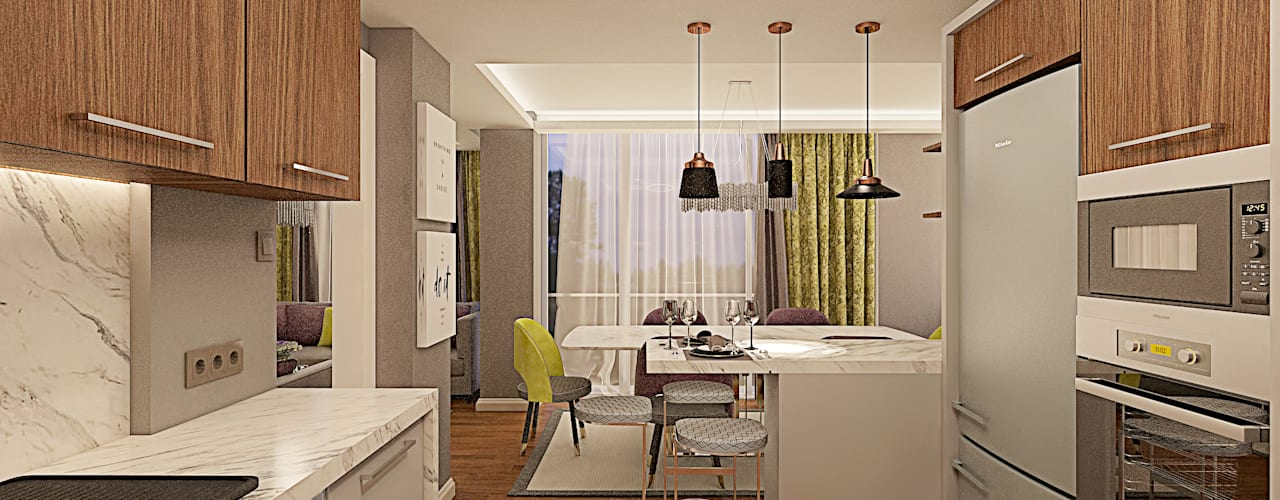 Ofis 352 Mimarlık Hizmetleri ห้องครัว