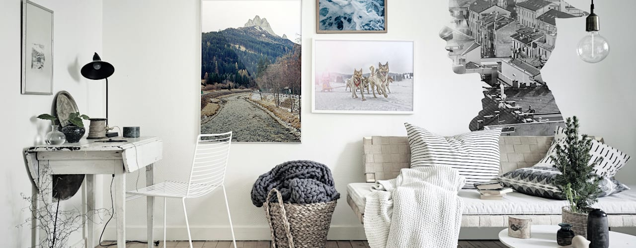 Study & office Oficinas de estilo escandinavo de Pixers Escandinavo