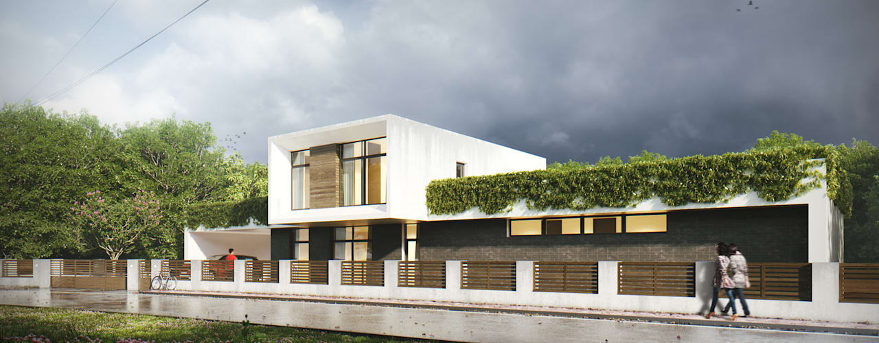 Casas minimalistas por Максим Любецкий Minimalista