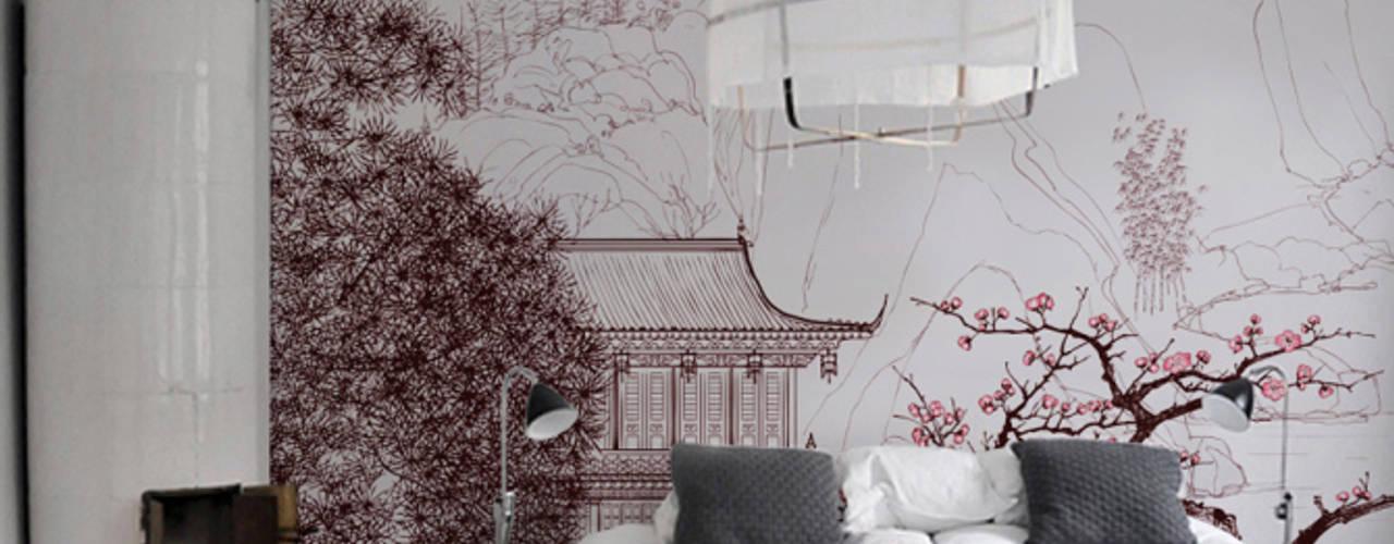 Bedroom Dormitorios de estilo asiático de Pixers Asiático