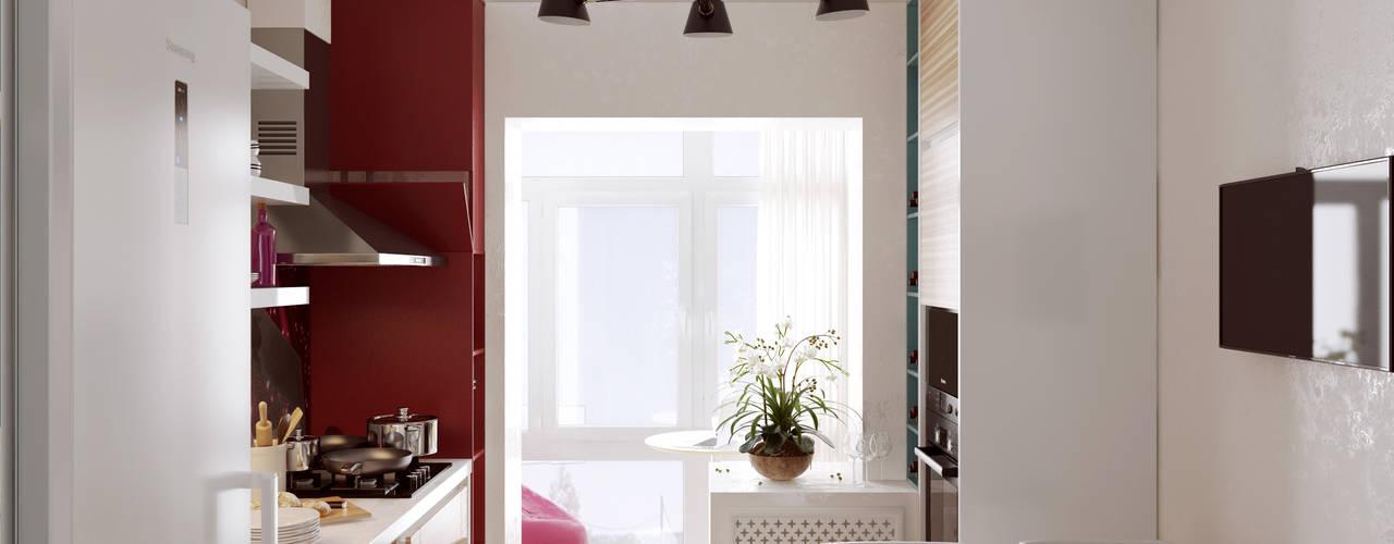 """Кухня в современном стиле """"Разноцветные маки"""" Кухня в стиле модерн от 2GO Design Studio Модерн"""