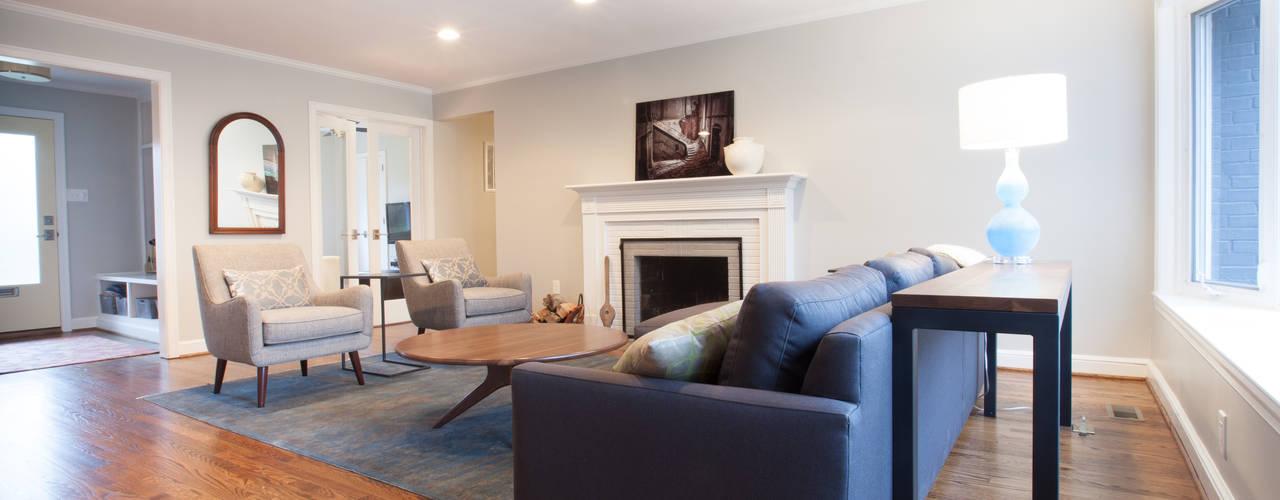 Living Room Update:  Living room by RedBird ReDesign