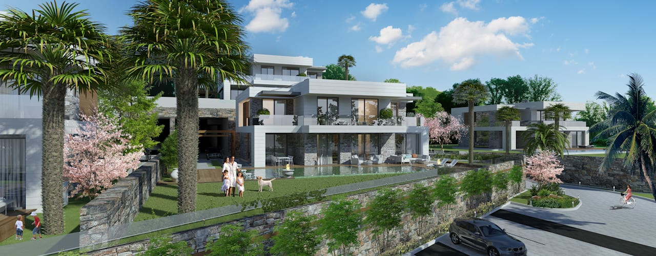 Modern houses by ARTIBODRUM MİMARLIK MÜH.İNŞ.TAAH.TİC.LTD.ŞTİ Modern