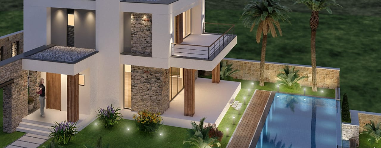 Eclectic style houses by ARTIBODRUM MİMARLIK MÜH.İNŞ.TAAH.TİC.LTD.ŞTİ Eclectic