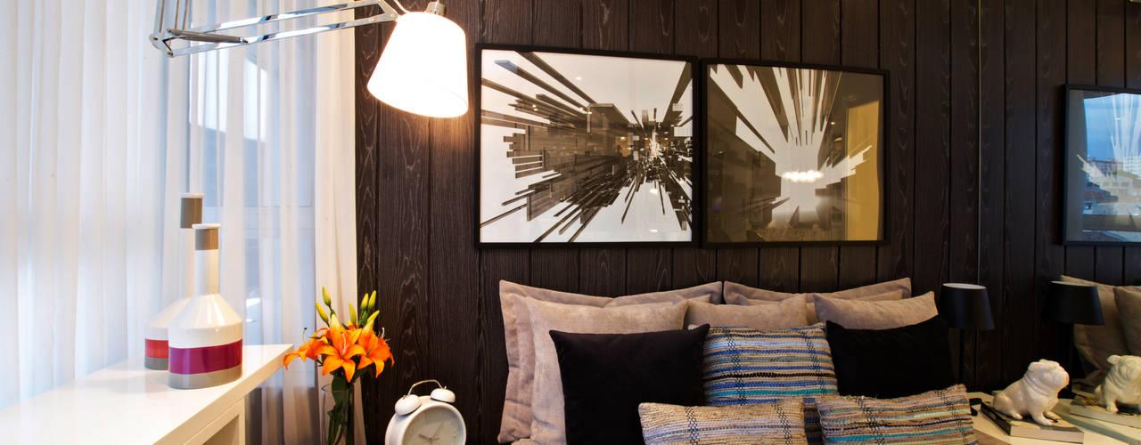 SETIN_MIDTOWM 42m²: Quartos  por Chris Silveira & Arquitetos Associados