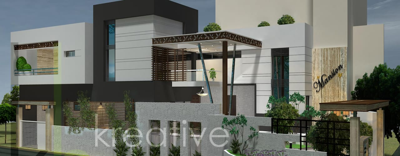 Green and Luxury Residences in India Modern houses by KREATIVE HOUSE Modern