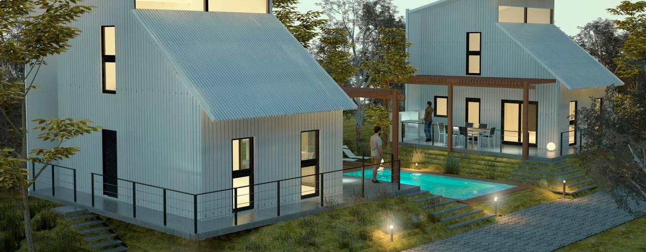 現代房屋設計點子、靈感 & 圖片 根據 FILIPPIS/DIP - DISEÑO Y CONSTRUCCION 現代風