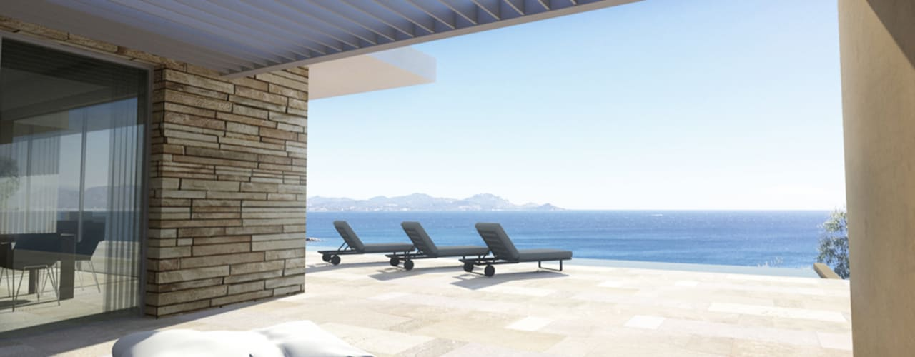 Varandas, marquises e terraços modernos por ARRIVETZ & BELLE Moderno