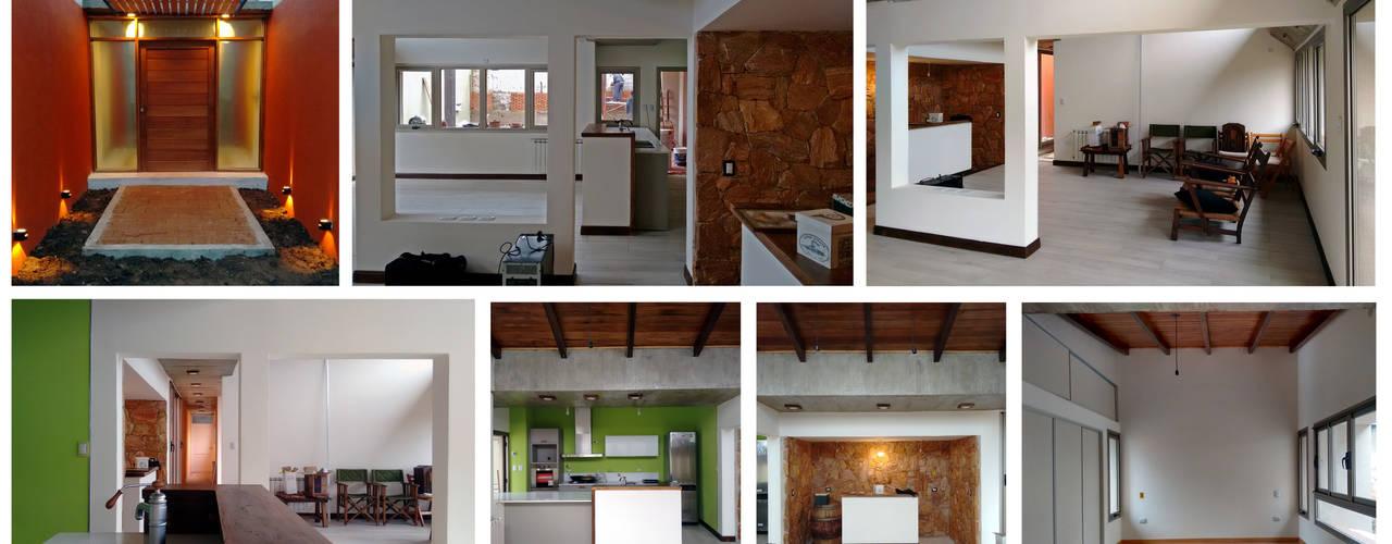"""Diseño y construcción de Casa """"patios entre medianeras"""" por 1.61 Arquitectos Comedores eclécticos de 1.61 Arquitectos Ecléctico"""