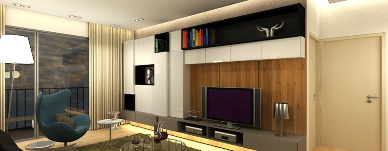 Modern living room by inDfinity Design (M) SDN BHD Modern