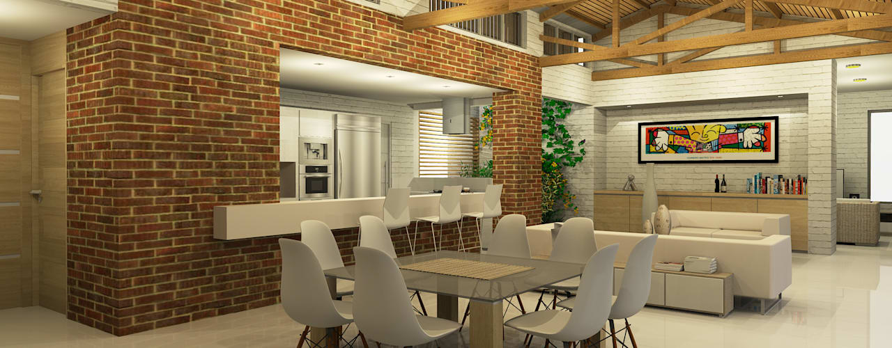 Casa La Morada DV Comedores de estilo moderno de COLECTIVO CREATIVO Moderno