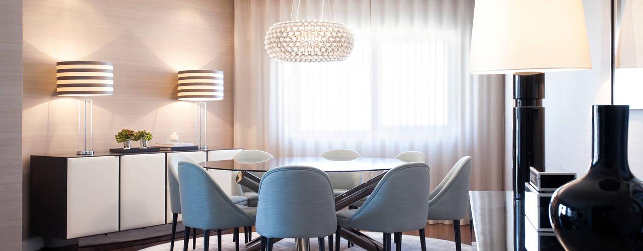 DECORAÇÃO APARTAMENTO PAREDE: Salas de jantar modernas por fernando piçarra fotografia