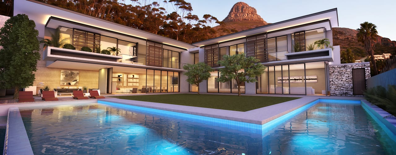 Avenue Fresnaye Villa:  Houses by Jenny Mills Architects,