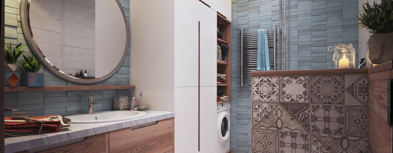 Myalik Apartment Scandinavian style bathroom by Polygon arch&des Scandinavian
