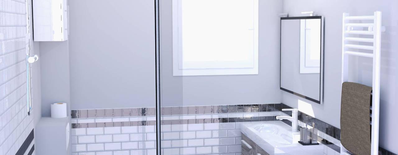 Rénovation d'une salle de bains par AUDELIA HOME DESIGN