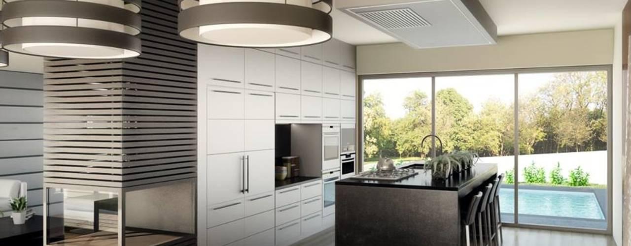 1328-VF-0813: Cozinhas modernas por Oliveiros Grupo